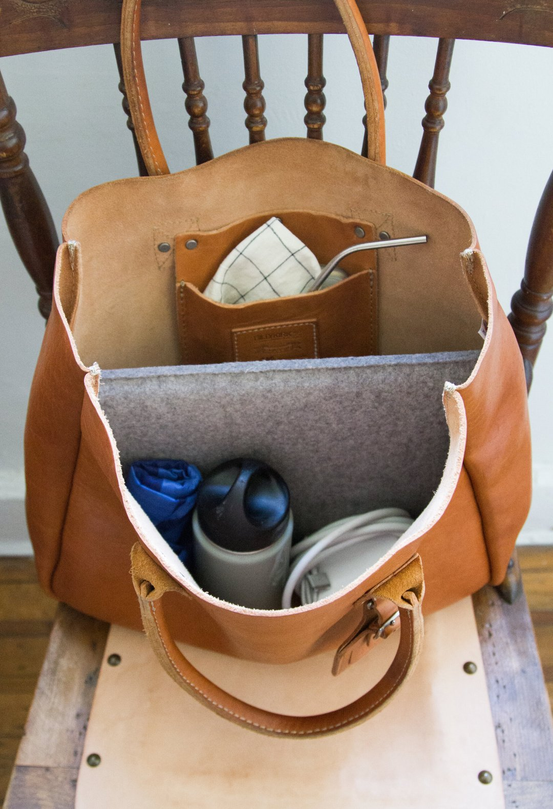 zero waste work bag | reading my tea leaves