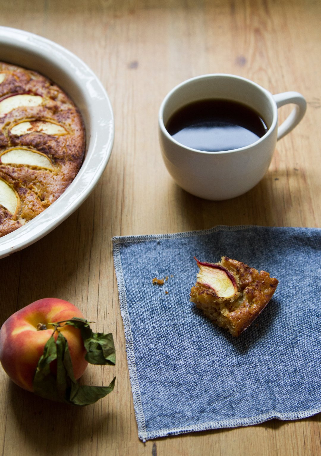 peach cake for breakfast | reading my tea leaves