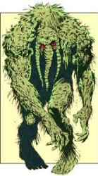 A normal-sized Man-Thing
