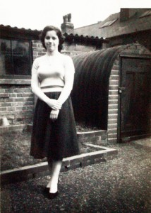 Adele Jagger age 16/17 in the back garden of 277a Ecclesall Road (now a coffee shop)