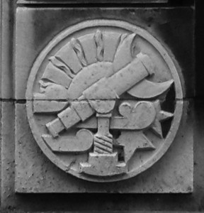 Carving from the Central Library entrance