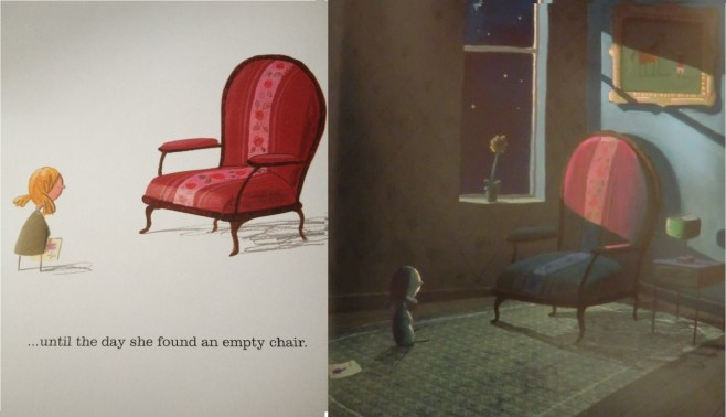 Through these poignant images, Oliver Jeffers explores the themes of love and loss