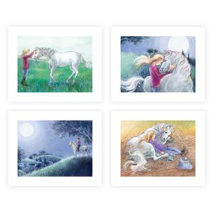 Set of All 4 Jump The Moon Prints