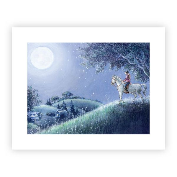 "Jump The Moon Print - ""Moon"""