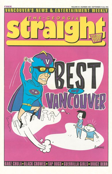 Cover of Georgia Straight featuring inaugural Best of Vancouver 1996