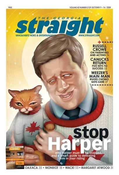 Cover of Georgia Straight featuring Harper 2008