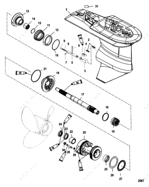 MercuryMariner 115 EFI 4Stroke, Gear Housing, Propeller