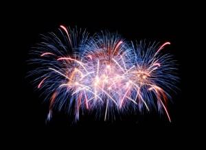 Nieuwjaar vuurwerk