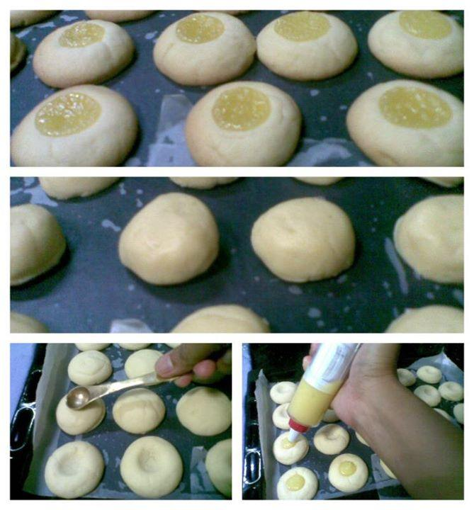 lemon thumb print cookie