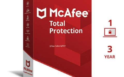 Best Antivirus McAfee Total Protection For 3 Years