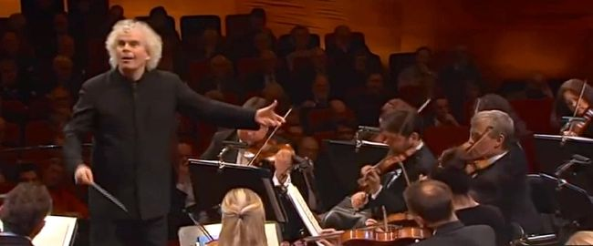 Sir Simon Rattle conducts Carl Nielsen Symphony 4 for Danmarks Radio