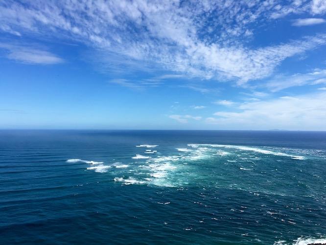NZ Cape Reinga Oceans Collide