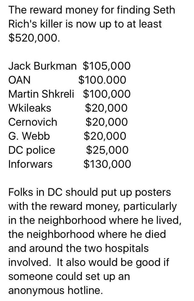 Seth Rich Reward up to $520,000