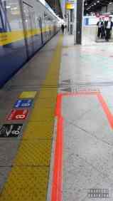 Japonia, oznaczenia kolejek do pociągów