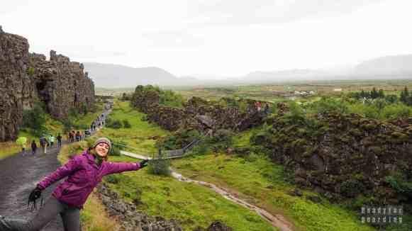 Płyty tektoniczne, Park Narodowy Þingvellir, Golden Circle - Islandia