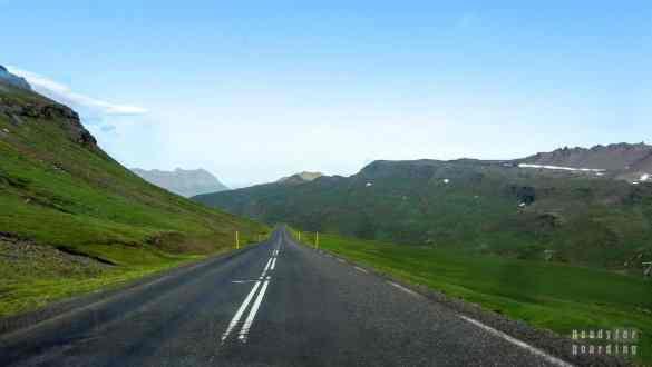 Droga z Reyðarfjörður do Neskaupstaður, Islandia
