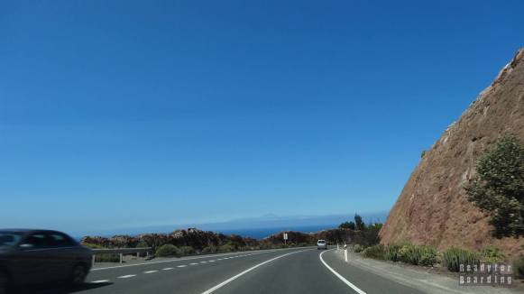 Las Palmas de Gran Canaria, widok na Teneryfę i wulkan Teide