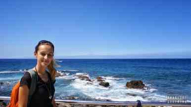 Agaete, widok na Teneryfę i wulkan Teide