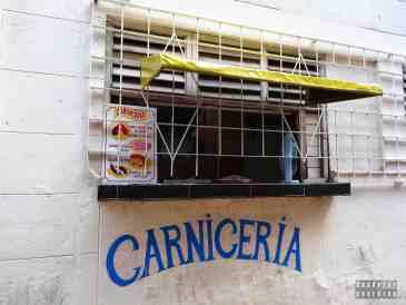 Sklep mięsny w Hawanie - Kuba