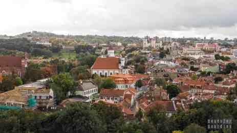 Widok ze Wzgórza Giedymina - Wilno, Litwa