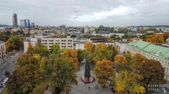 Widok z okna hotelowego - Wilno, Litwa