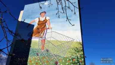 The New Future, K. Klinger - Murale na Osiedlu Zaspa - Trójmiasto