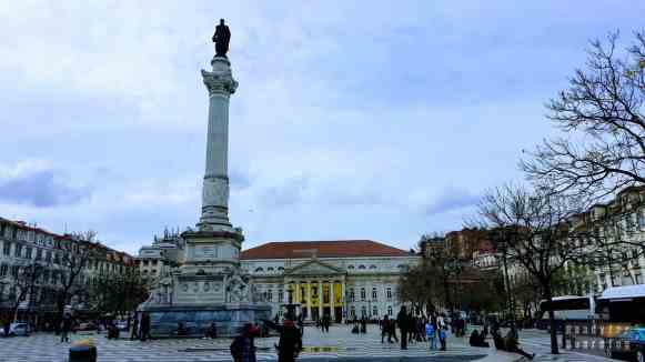 Plac Dom Pedro IV - Lizbona, Portugalia