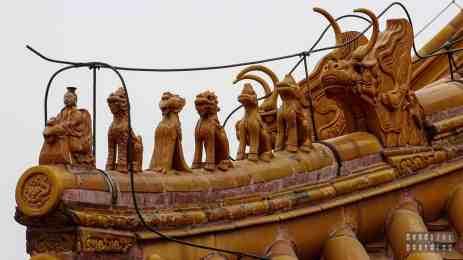 Cesarski smok na dachu pawilonu w Zakazanym Mieście, Pekin