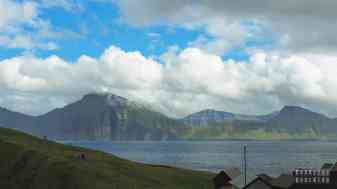 Widok na Kalsoy, Eysturoy - Wyspy Owcze