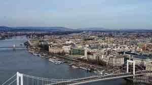 Widok z Góry Gellerta, Budapeszt - Węgry