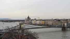 Widok z Góry Gellérta, Budapeszt - Węgry