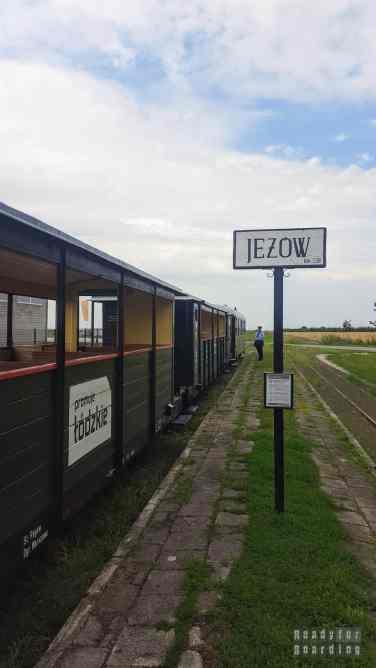 Stacja Jeżów, kolej wąskotorowa, łódzkie