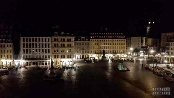 Widok z hotelu na Nowy Rynek, Drezno