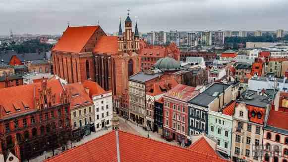 Widok z wieży ratuszowej, Toruń