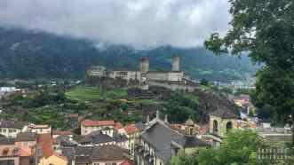 Widok na Castelgrande, Bellinzona - Szwajcaria