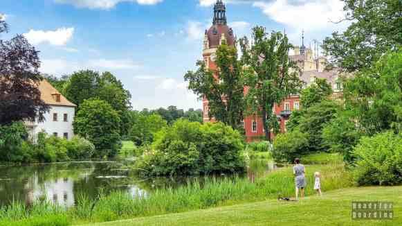 Nowy zamek w Parku księcia Pücklera, Mużaków - Saksonia, Niemcy