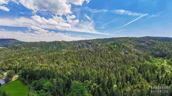 Widok ze skały zakonnic - Saksonia, Niemcy