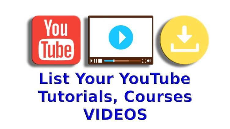 List YouTube Video