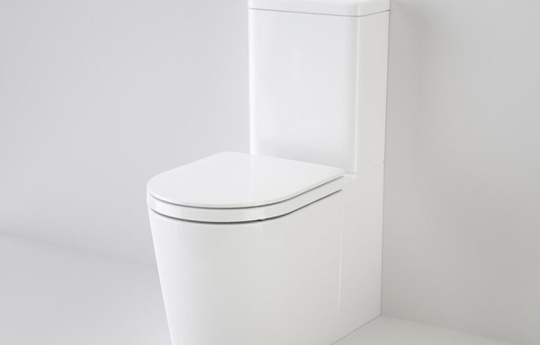 CAROMA Liano Wall Faced Close Coupled Universal Trap Back Entry Toilet Suite