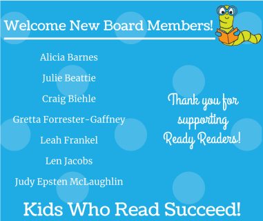 Welcome New Board Members! – Ready Readers
