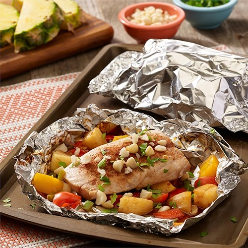Grilled Hawaiian Mahi Mahi Foil Packets Ready Set Eat