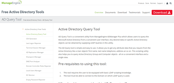 Manage Engine AD Query