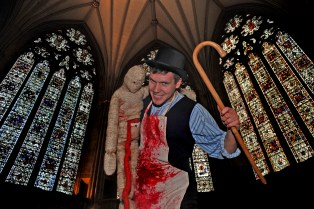 Dr Death in the Chapter House of York Minster. Part of the Yorkshire and Humber Big Bang July 2011