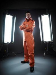 Simon in full dissection gear for Inside Natures Giants