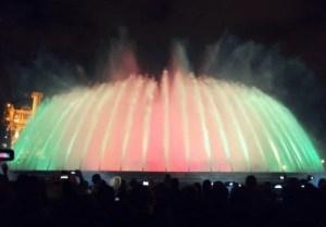Fuente del Montjuic - Suele haber show de luces por las noches de verano