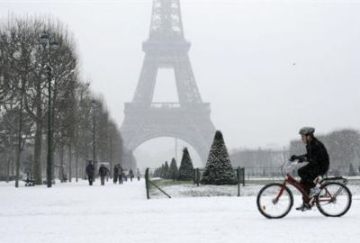 Nieve en Paris - Torre Eiffel