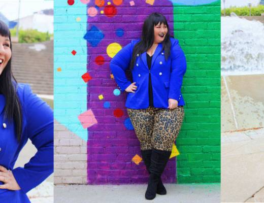 Plus Size Blue Pant Suit - Fall Fashion Plus
