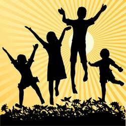 Kids playing - fun helps memory improvement