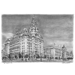 The Liver Building, Liverpool by Stephen Wiltshire