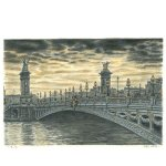 Pont Alexandre III, Paris by Stephen Wiltshire